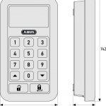 HomeTecPro Funktastatur CFT3000 Maße